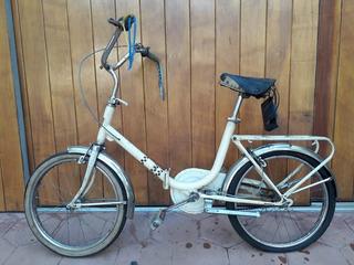 Bicicleta Plegable Aurorita Original R20 P/restaurar 1970s