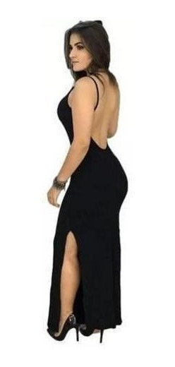 Vestido Feminino Longo Com Bojo Festa Casual P M Viscolycra
