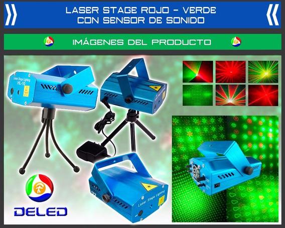Proyector Mini Laser Stage Con Sensor De Sonido