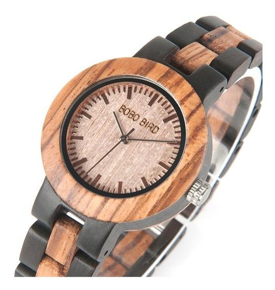Relógio Feminino Madeira Bobo Bird N301