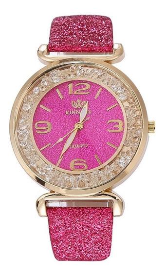 Relógio Pulseira Feminino Quartzo + Caixa De Presente