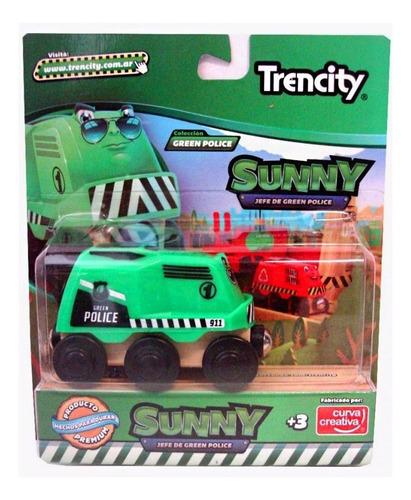 Imagen 1 de 6 de Trencity Locomotora Sunny Verde Juguetes De Madera Edu Full