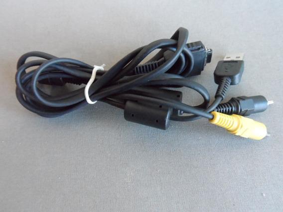 Cabo Usb Câmera Digital Sony + Usb + Cabo Audio E Video