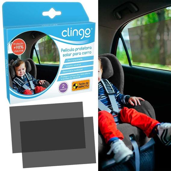 Protetor Solar Para Carros Clingo - Sem Ventosas 2 Unidades