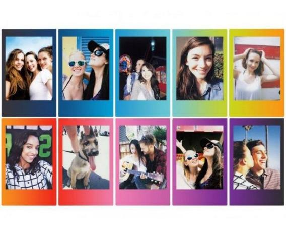 Filme Para Câmera Instantânea Fujifilm Instax Mini Rainbow