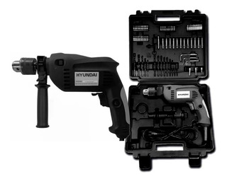 Taladro Kit Accesorios Hyundai Hh0111 550w 72 Piezas Maletin