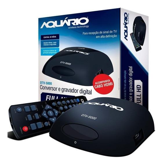 Conversor E Gravador Tv Digital Aquario Usb Hdmi Dtv-5000