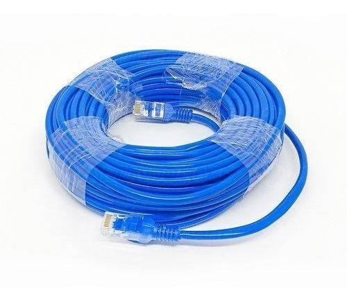 Cabo De Rede Ethernet 20 Metros Internet Azul