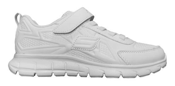 Tenis Skechers Sport Blanco Piel Deportivo Escolar Niños