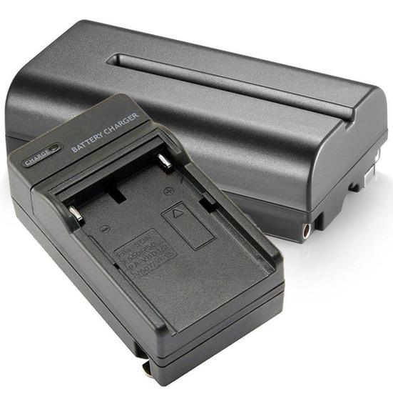 Kit 1x Bateria F550 P/ Led Ring Light + 1x Carregador
