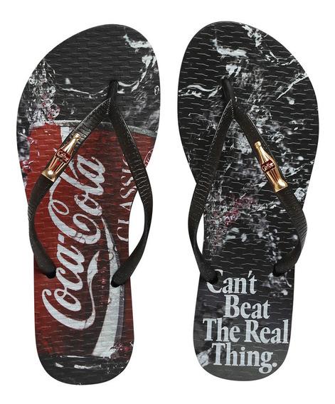 Chinelo Coca Cola Beat Preto Cc2657