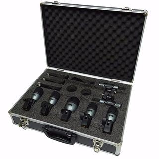 Set De Siete Microfonos Para Bateria Carlsbro Dm7p + Estuche