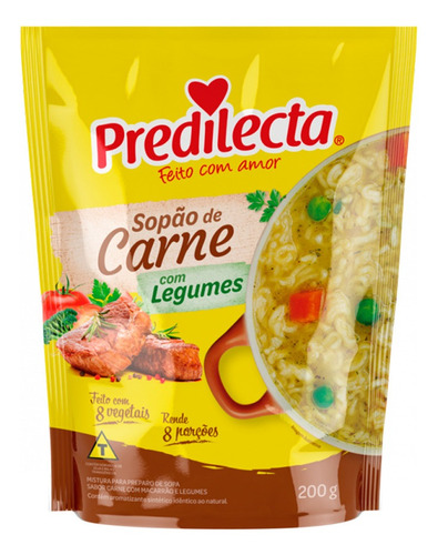 Imagem 1 de 1 de Sopão De Carne Com Legumes 200g Predilecta