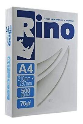 Papel Sulfite A4 75g Rino 210x297 8 Resmas De 4000 Folhas