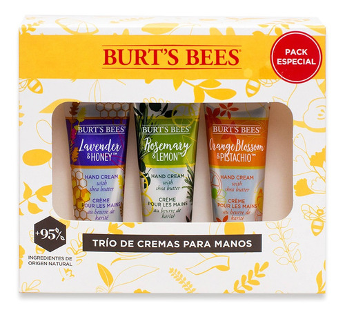 Kit Para Regalo Burt's Bees Trío De Crema Para Manos