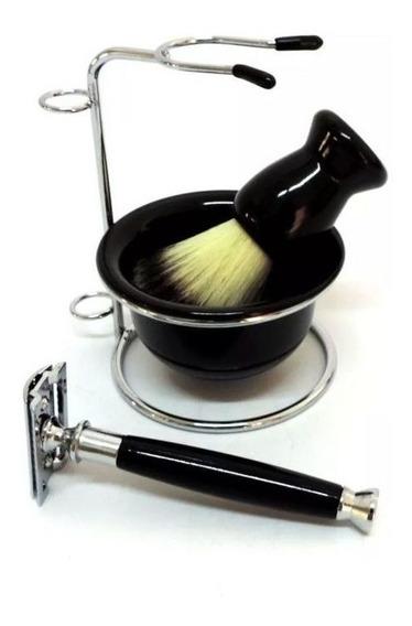 Kit Barbear Completo Barbeador Pincel Pires Retro Banheiro