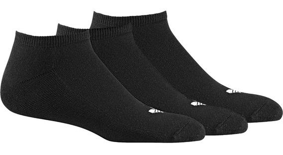 Medias adidas Trifolio Liner - 3 Pares Negras- Originals