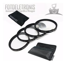 Kit Filtros Close Up (+1, +2, +4, +10) 67mm Alta Qualidade