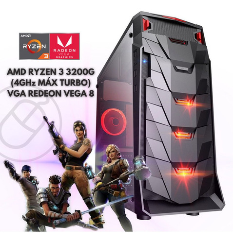 Cpu Gamer Barata Ryzen 3 3200g 16gb Ssd 240gb Radeon Vega 8