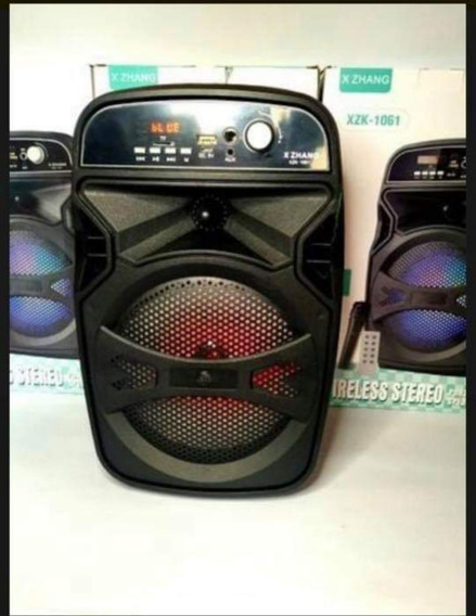 Caixa De Som Bluetooth Com Microfone Para Karaoke