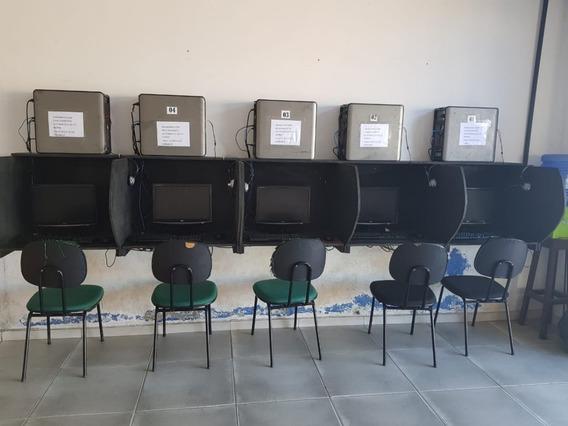 7 Computadores Completos Para Lan House, Com Baias Mais Brin