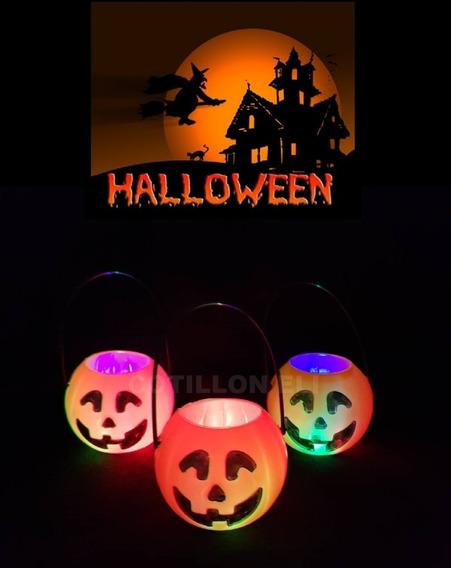 Halloween Calabazas Luminosas Luz Led X 6 - Noche De Brujas