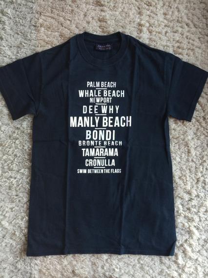 Camiseta Souvenir Austrália Praias Manly Bondi Dee Why Swim Between The Flags Tamanho P Importada Zerada Novinha!