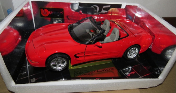 1/18 Miniatura Carro Chevrolet Corvette Conversivel 1998