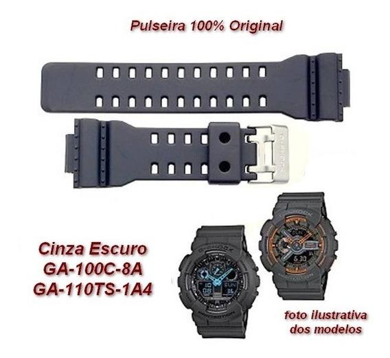 Pulseira Casio G-shock Ga-100c-8a Ga-110ts-1a4 Cinza Grafite