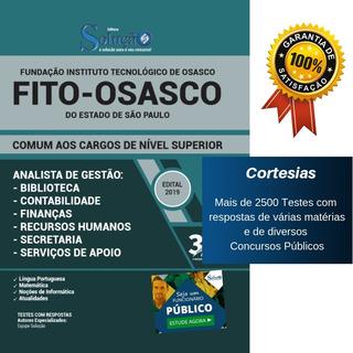 Apostila Fito Osasco - Analista De Gestão - Comum Aos Cargos