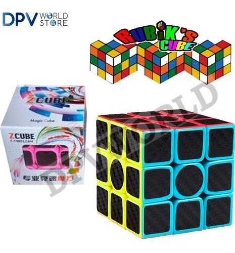 Imagen 1 de 4 de Cubo Rubik 3x3 Fibra De Carbono Ultra Rapido