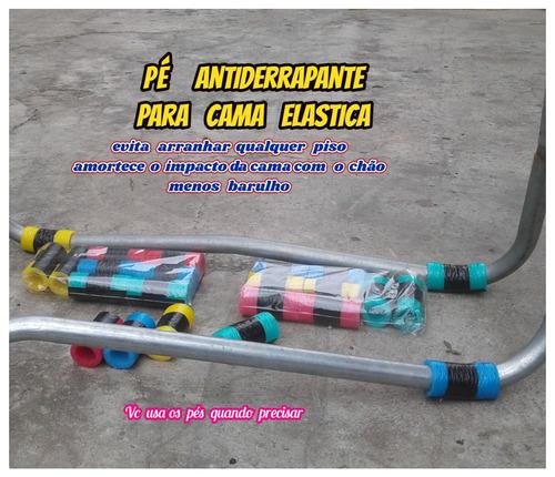 Imagem 1 de 10 de Pés Antiderrapante P/cama Elastica Mais Segurança Kit C/08'.