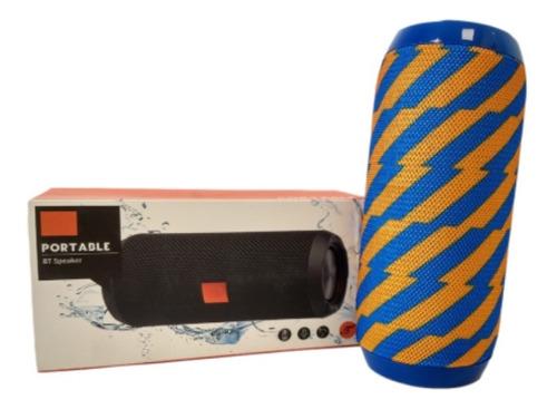 Parlante Bluetooth Portatil Usb Inalambrico Naranja/azul