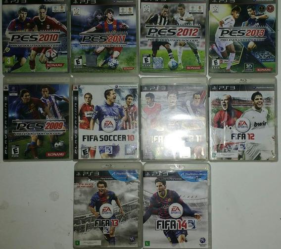 Coleção Pes E Fifa Para Ps3 Playstation 3 Play 3