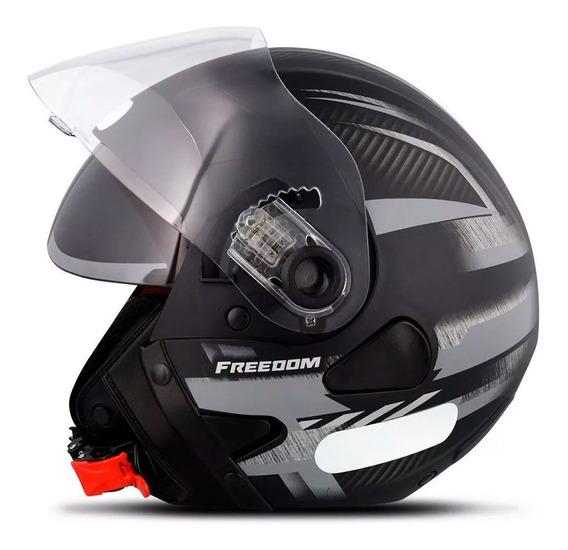 Capacete De Moto Ebf Freedom Square Aberto C/ Oculos Interno