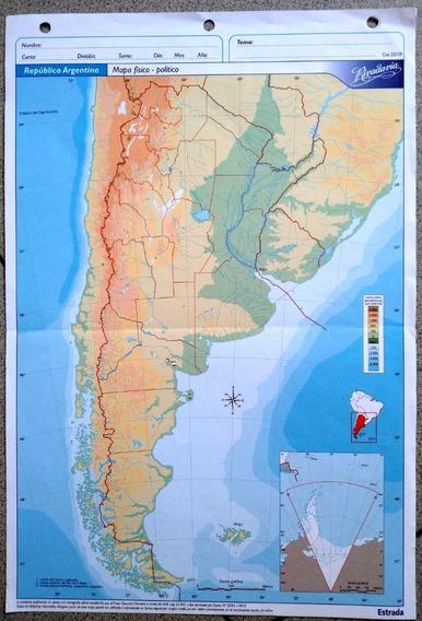 Mapas Escolares Rivadav Nro 5 Argentina Fisico Politico Caba Mercado Libre