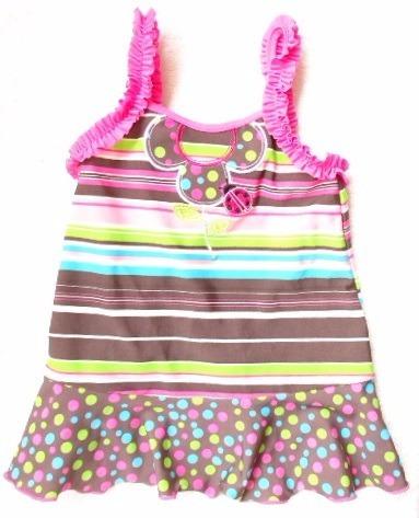 Kit 3 Saida De Praia Vestido Lycra Infantil Tip Top 2/3 Anos