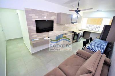 Guarujá Pitangueiras, Reformado, 2 Dormitórios, 2 Suites, Serviço De Praia, Ótima Localização. - Ap0403