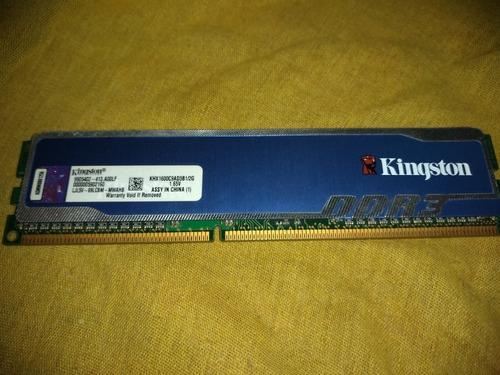 Memoria Ram Ddr3 Kingston Hypsp Blu