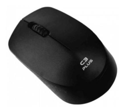Imagem 1 de 3 de Mouse Sem Fio C3plus M-w17bk 1000dpi Preto