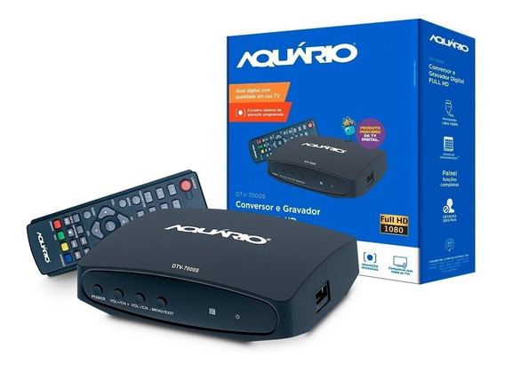 Conversor Digital Multimídia Dtv 7000 Aquario Para Tv