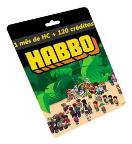 Cartão Habbo R$30 Reais 1 Mês Hc+120 Créditos Br Brasil