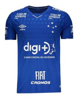 Camisa Umbro Cruzeiro I 2019 Com Patrocínio