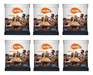 Maní Gourmet Roruka Pack X 6 X 100g. - Tostado No Frito