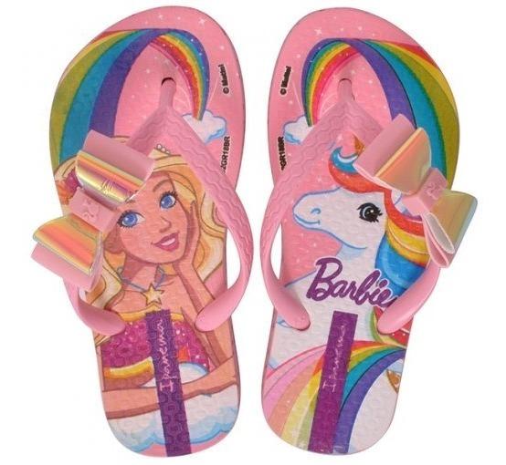 Chinelo Infantil Ipanema Barbie Unicornio 26213 Rosa Leve