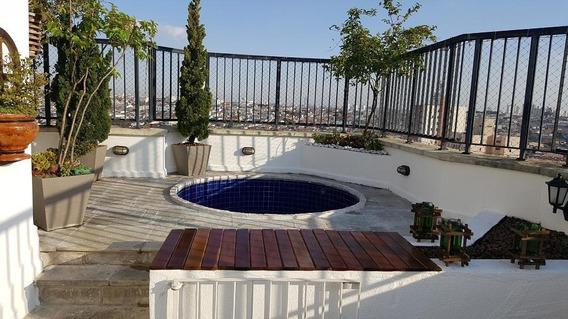 Cobertura Com 3 Dormitórios À Venda, 161 M² Por R$ 670.000,00 - Anália Franco - São Paulo/sp - Co0033