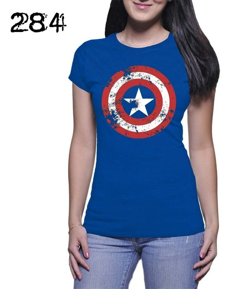 Capitan America Blusa Dama Rott Wear Envío Gratis