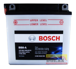 Bateria Moto Bosch Bb8-a Suzuki En 125 Intruder 125 Yb7-a
