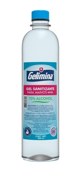 Gel Antibacterial Para Manos 500 Mililitros Gelimina