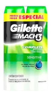 Gillette Gel De Afeitar Mach3 Sensitive 198 Gr X 2 Unidades